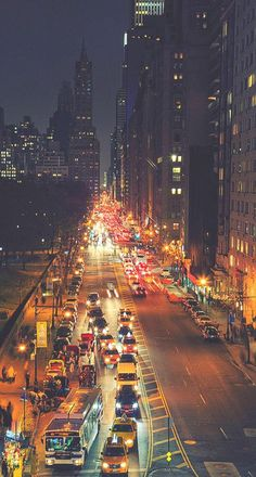I think that this photo of New York is very nice, because of the road that continues into the distance with the lights of the cars.
