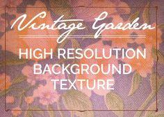 Vintage Garden Textured Background. Textures. $3.00