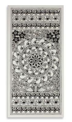 Traditional Madhubani Folk Art Painting - Morning Rejoice   NOVICA