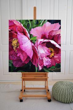 Flower art painting oil peonies 40 new ideas Oil Painting Flowers, Watercolor Flowers, Watercolor Paintings, Floral Paintings, Paintings Of Flowers, Lotus Painting, Paint Flowers, Acrylic Paintings, Artist Painting