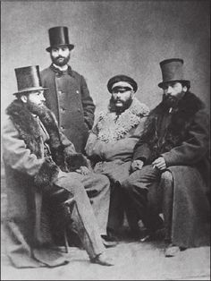 Ilia Chavchavadze with his friends in St. Petersburg