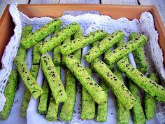 Gaga u kujni: Zeleni slani štapići Salmon Pie, Asparagus, Green Beans, Vegetables, Cooking, Food, Kitchen, Studs, Essen
