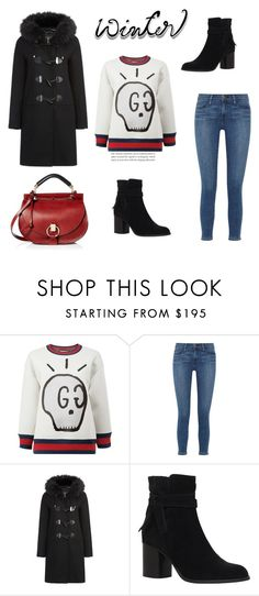 """""""86"""" by meldiana ❤ liked on Polyvore featuring Gucci, Frame, Carvela and Chloé"""