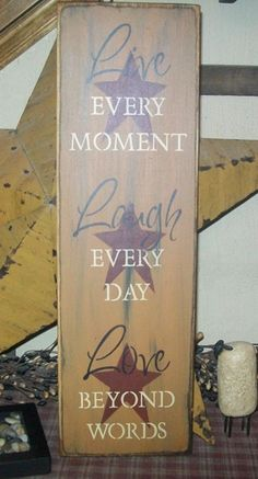 LIVE,LAUGH,LOVE!! Think I'm going to make something like this, this is to dark to my taste, but still pretty.