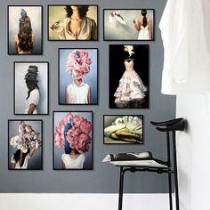 Types Of Art Styles, Cactus Wall Art, Nordic Art, Cheap Paintings, Living Room Art, Modern Wall Art, Bird Lady, Wall Art Decor, Gallery Wall