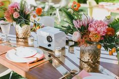 A Mid-Century Style Wedding That's Beyond Incredible #refinery29  http://www.refinery29.com/100-layer-cake/71#slide-19  Catering: Huntington Catering....