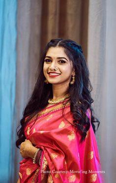 Bridal Hairstyle Indian Wedding, Bridal Hair Buns, Indian Bridal Hairstyles, Indian Bridal Fashion, Indian Wedding Outfits, Bridal Outfits, Indian Bride Hair, Saree Hairstyles, Open Hairstyles