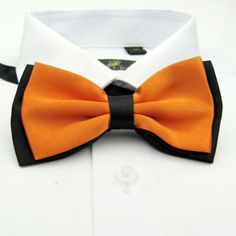 Orange stitch bow tie, the gentleman bow tie, mens ties free shipping  wholesale  c611