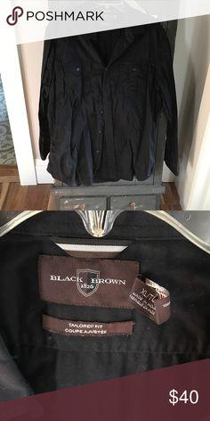 Black men's Button Down Black Brown men's Button Down.   Black size xl Black Brown 1826 Shirts Casual Button Down Shirts