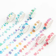 Watercolour Washi Tape, cute stationery | haroro.storenvy.com