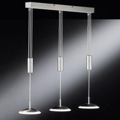 LED Hängeleuchte Design Leuchte Pendellampe Chrom Hängelampe Glas Pendelleuchte…