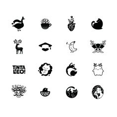 Logo Collection I on Behance by Alexandra Erkaeva Small Rib Tattoos, Small Tattoos For Guys, Mini Tattoos, Cute Tattoos, Logo Design Inspiration, Icon Design, Tattoo Inspiration, Freedom Tattoos, Iphone Wallpaper Vsco