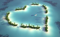 My Earth Romance My Special - Heart Shaped Landscapes Image: heart shaped islands