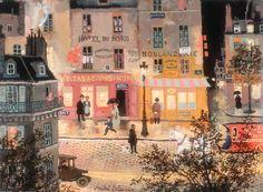 Michel Delacroix, Soir pluvieux rue Manin, 2012,