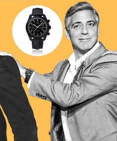 See the timepieces of choice for Leonardo DiCaprio, George Clooney, Emily Blunt and more; George Clooney wears Omega.