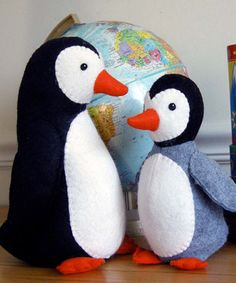Poppy and Pip Penguins softie sewing pattern | The best sewing patterns for women, girls, toys and more. Go To Patterns & Co.