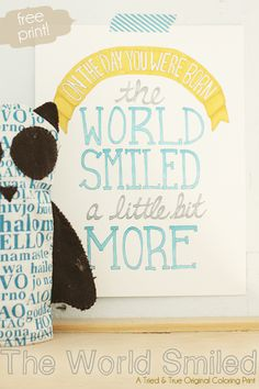 This reason to break out the watercolors: | 24 Awesome Nursery Wall Prints That Cost $0