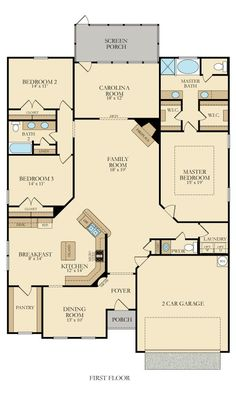 Marion floor plan Coosaw preserve---needs some changes, but like the bedroom setup Sims House Plans, Barn House Plans, Family House Plans, New House Plans, Dream House Plans, Small House Plans, House Floor Plans, House Blueprints, House Layouts