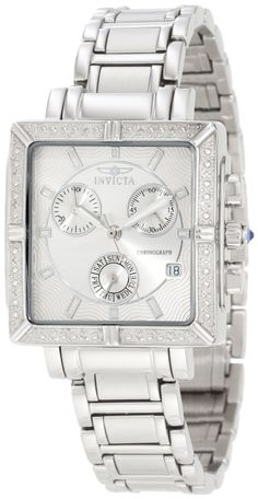Invicta Womens Diamond Stainless Steel Chronograph Watch