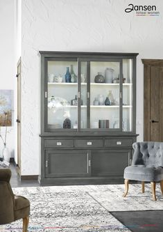 Furniture, Home Living Room, Home Decor Bedroom, Bookcase With Glass Doors, House Styles, House Inspiration, Home Decor, House Interior, Home And Living