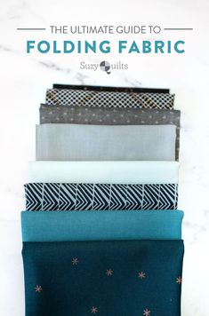 Suzyquilts.com has the ultimate guide to folding fabric of different sizes to neatly organize your fabric stash. Step by step photos and instructions show you how to fold fat quarters, half yards, and yardage so you can get started on cleaning your sewing studio. #fabricorganization #sewing My Sewing Room, Sewing Rooms, Quilting Tips, Quilting Tutorials, Quilt Storage, Modern Quilt Patterns, Sewing Studio, Fat Quarters, Quilt Making