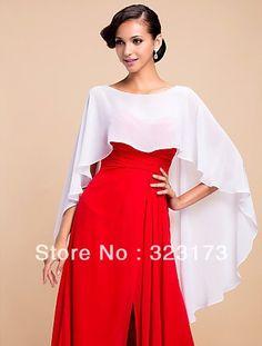 Elegant Chiffon Evening/Wedding Poncho (More Colors)  Black White Bolero Jacket