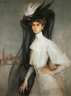 Olga Alberta (1871–1930), Baroness de Meyer by William Bruce Ellis Ranken