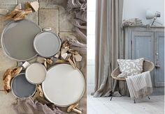 20 inspirations pour un salon aux couleurs naturelles. Natural but warm, inviting colours for your home.