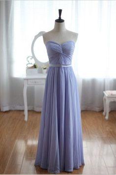 Elegant Chifon Floor Length Sweetheart Prom Dress lavender  and really pretty