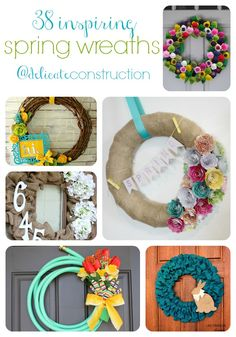 38 Inspiring Spring Wreaths - Delicate Construction