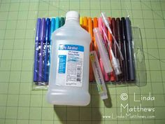DIY Alcohol Ink. Link to video tutorial and tips for making alcohol ink.  http://www.linda-matthews.com/diy-alcohol-inks/#