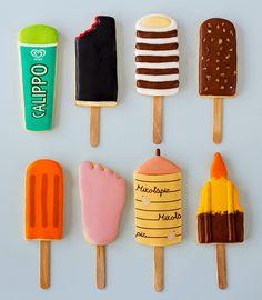 Postreadicción galletas decoradas, cupcakes y pops: Galletas decoradas: polos ochenteros