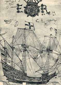 16th Century Elizabethan Man of War Pirate Ship