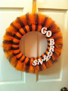 Cleveland Go Browns tulle wreath  by JoiedeVivreCrafts on Etsy, $25.00