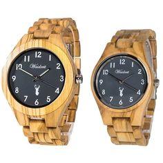 Drevené hodinky pre páry so Zľavou a s dopravou ZDARMA – waidzeit.sk Gold Watch, Watches, Accessories, Collection, Fashion, Moda, Wristwatches, Fashion Styles, Clocks