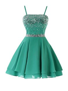 Short Homecoming Dresses,Green Homecoming Dresses,dres, Prom Dresses Cheap Prom Dresses A-line/Princess Mini Green Chiffon Sexy Sleeveless Straps Backless Short Dresses Homecoming With Sequin Summer Homecoming Dresses Straps, A Line Prom Dresses, Evening Dresses, Short Dresses, Girls Dresses, Prom Gowns, Chiffon Dresses, Chiffon Skirt, Dress Prom