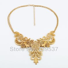Luxury Women Popular Mix Style Hollow Metal Gold Necklace US $3.33