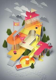 Kingdom On Behance Illustration Pinterest Illustrations - Amazing 3d artwork dani aristizabal