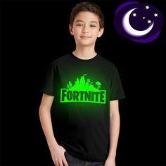 a7b408c2 Luminous Fortnite Kids T Shirt Fluorescent Game Fortnite Logo Children T- shirt