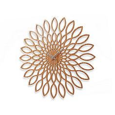 Present Time Karlsson 23.5-Inch Sunflower Wall Clock The perfect blend of both contemporary styling and organic aesthetics, this sunflower wall clock evokes the delicate intricacies of the sunflower that inspired it. The extra large size makes this clock a dramatic statement for any home or office.
