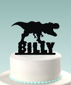 Dinosaur Cake Topper by GormanLaser on Etsy