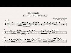 (3) DESPACITO: Clave de Fa (trombón,chelo,fagot,contrabajo)(partitura/playback) - YouTube