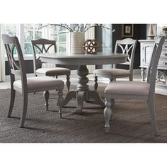 Summer House Dining 5 Piece Pedestal Table Set by Liberty Furniture at Northeast Factory Direct Furniture Market, Bar Furniture, Furniture Deals, Dining Room Furniture, Cheap Furniture, Furniture Refinishing, Refurbished Furniture, Online Furniture, Wolf Furniture