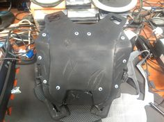 Front plate with scraches.