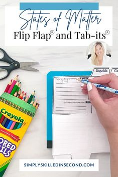Teach your primarty kiddos all about different states of matter with this Tab-Its and Flip Flap books! Perfect for any science activity, it's guaranteed to be educational, rigorous, and fun to complete! Science Curriculum, Science Resources, Science Activities, Science Projects, Primary Classroom, Classroom Resources, Teacher Resources, States Of Matter, Science Videos