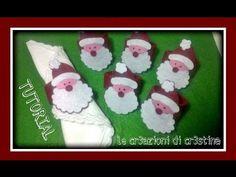Come Realizzare Portatovaglioli Natalizi Babbo Natale con il Feltro - Tutorial di Natale - YouTube