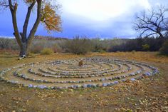 Labyrinth on one of the Hiking Trails at Ojo Caliente Hot Springs Spa