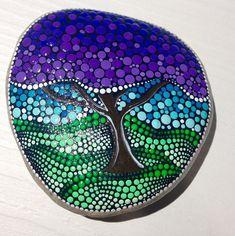 Mosiac tree rock art