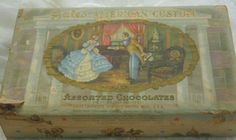 Vintage Chocolates Box with Southern Belle by AmyFindsEverything, $10.00