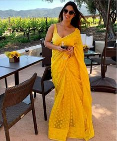 Sajanre New Designer Presenting Saree With Embroidery Work - lehenga Choli - Jupe Sari Design, Sari Blouse Designs, Saree Blouse Patterns, Choli Designs, Lehenga Choli, Anarkali, Jamdani Saree, Net Saree, Sabyasachi